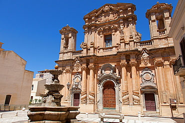 The Baroque Church of the Purgatory, Marsala, Sicily, Italy, Europe