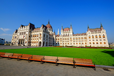 The Hungarian Parliament Building, Budapest, Hungary, Europe