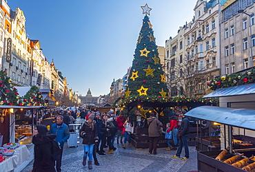 Vaclavske namesti (Wenceslas Square), Nove Mesto (New Town), Prague, Czech Republic, Europe