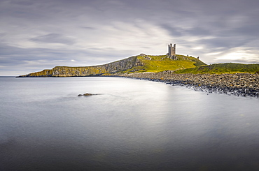 Lilburn Tower, Dunstanburgh Castle, Northumberland, England, United Kingdom, Europe