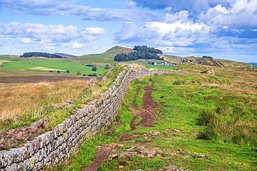 Hadrian's Wall, UNESCO World Heritage Site, Henshaw, Hexham, Northumberland, England, United Kingdom, Europe