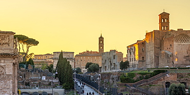 Via Sacra leading up the Capitoline Hill, Rome, Lazio, Italy, Europe