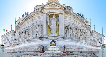 Tomb of the Unknown Soldier, statue of Goddess Roma, Vittorio Emanuele II Monument, Altare della Patria (Altar of the Fatherland), Rome, Lazio, Italy, Europe
