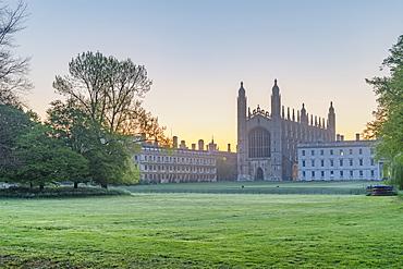 The Backs, King's College Chapel, Cambridge, Cambridgeshire, England, United Kingdom, Europe