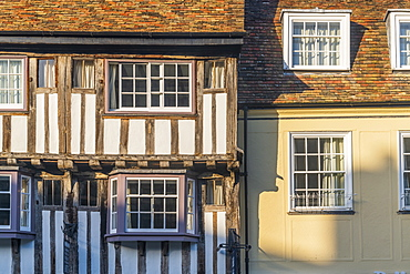 Bridge Street, Timber framed building, Cambridge, Cambridgeshire, England, United Kingdom, Europe