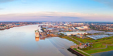 UK, England, Essex, Tilbury, London Cruise Terminal and Tilbury Docks, MV Columbus cruiseship