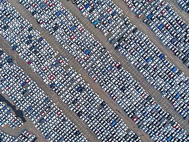 UK, England, Essex, Tilbury, Tilbury Docks, New Cars