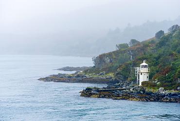 Carraig Mhor Lighthouse, Sound of Islay near Port Askaig, Argyll and Bute, Scotland, United Kingdom, Europe