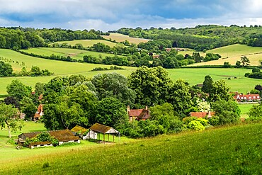 Skirmett village within the lovely Hambleden Valley in the Chiltern Hills near Henley-on-Thames, Skirmett, Buckinghamshire, England, United Kingdom, Europe