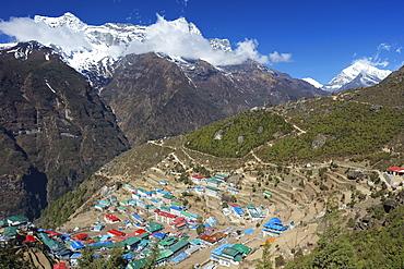 Namche Bazaar, Nepal, Himalayas, Asia