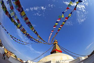 Boudhanath Stupa, UNESCO World Heritage Site, Kathmandu, Nepal, Asia