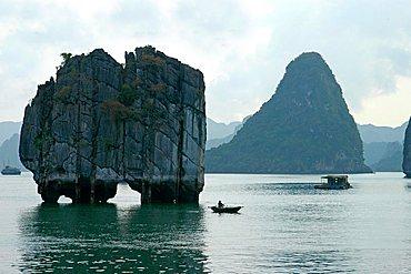 Limestone monolithic island of Halong Bay, Vietnam