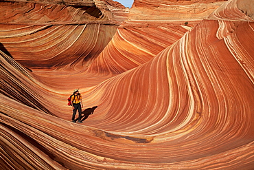 Sandstone formations, Coyote Buttes North, Vermilion Cliffs Wilderness, Page, Arizona, USA, America