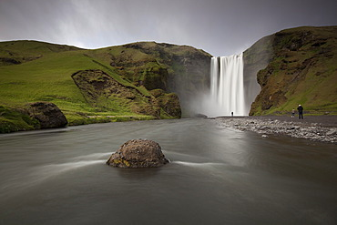 Skogafoss waterfall, Skogar, South Iceland, Iceland, Europe