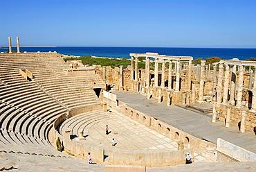 Roman theatre Leptis Magna Libya