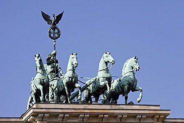 Quadriga at the Brandenburger Tor Brandenburg Gate, Berlin, Germany, Europe