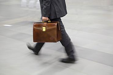 Businessman with attache case