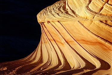 Sandstone formation in Paria Sandhills, Vermillion Wilderness, Utah, U.S.A