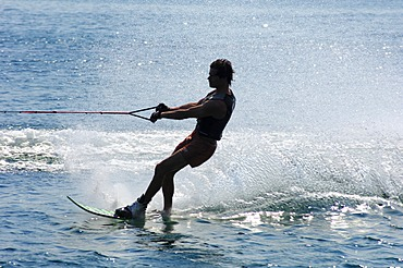 Water skiing Lake Geneva Switzerland