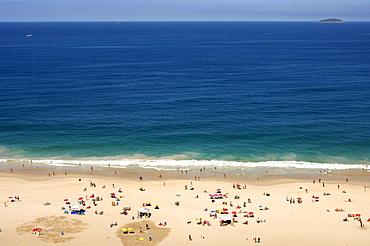 Beach life on Copacabana beach, Rio de Janeiro, Brazil
