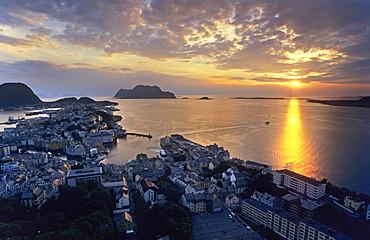 View onto Alesund, Norway