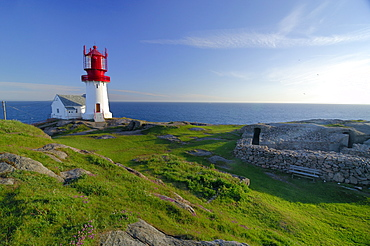 Lighthouse, Lindesnes, south cape, Vest-Agder, Norway, Europe