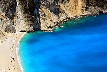 Mitros beach, swimming bay with sandy beach Kefalonia, Ionian Islands, Greece
