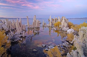 Interesting tuff rock formations, Mono Lake, Lee Vining, California, USA