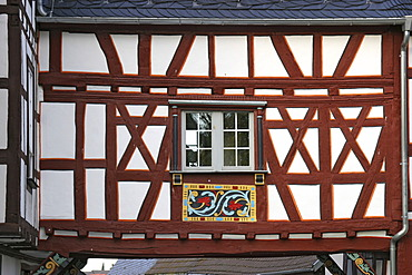 Framework facade at the bridge between Amtshof and Obertorturm in Bad Camberg, Hesse, Germany