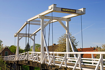 Hogendiek bridge, Altes Land Area near Hamburg, Lower Saxony, Germany