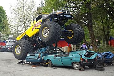Monster Truck Show, Bergisch Gladbach-Refrath, North Rhine-Westphalia, Germany, Europe