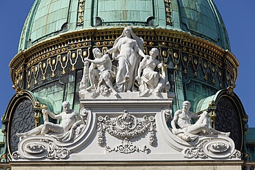 Dome of the Michaelertrakt building of the Hofburg palace, Hofburg, Vienna, Austria, Europe