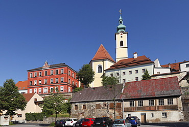 Town museum and parish church of St. Georg, Neustadt an der Waldnaab, Upper Palatinate, Bavaria, Germany, Europe