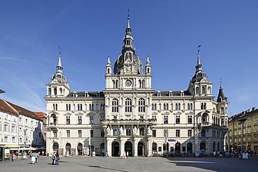 Town Hall, Hauptplatz square, Graz, Styria, Austria, Europe, PublicGround