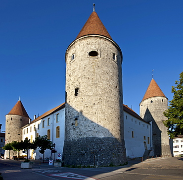 Grandson Castle in Grandson, Lake Neuch√¢tel, Canton Vaud, Switzerland, Europe