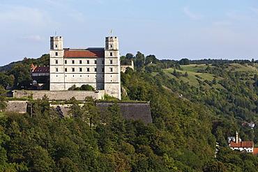 View of Willibaldsburg castle, Eichstaett, Altmuehltal valley, Upper Bavaria, Bavaria, Germany, Europe