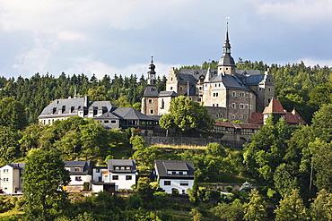 Burg Lauenstein castle, Lauenstein district, Ludwigsstadt, Kronach county, Upper Franconia, Bavaria, Germany, Europe