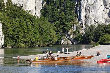 Donaudurchbruch , Danube river in Weltenburg , Lower Bavaria Germany