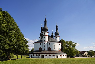 Kappel , pilgrimage church Waldsassen , Stiftland , Upper Palatinate , Bavaria Germany