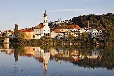 Passau, river Inn, Lower Bavaria, Germany