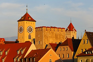 Regensburg, Tower of the Town Hall and Patrician Towers, Upper Palatinate, Bavaria, Germany