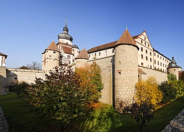 Marienberg Fortress Wuerzburg, Franconia, Bavaria, Germany