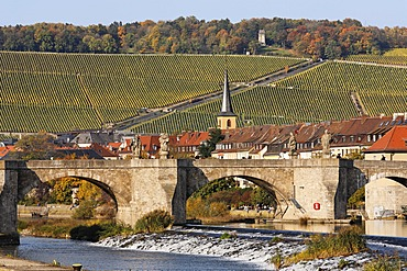 Old Bridge Wuerzburg, Franconia, Bavaria, Germany