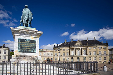 The Royal Palace Amalienborg in Copenhagen, Denmark, Europe