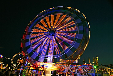 """Wind Wheel"" Carousel, Oktoberfest, Munich, Bavaria, Germany, Europe"