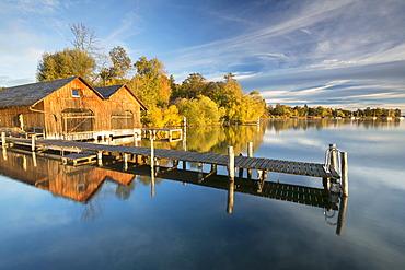 Early autumn morning at Lake Starnberg near Tutzing, Bavaria, Germany, Europe, PublicGround