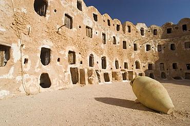 Storage castle with ghorfas, Qasr el Hajj, Nafusah mountains