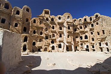 Ghorfas at qsar Kabao, Kabau, Kabaw, Nafusah Mountains, Libya