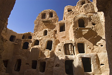 Storage rooms or ghorfas in Nalut, Nafusah Mountains, Libya