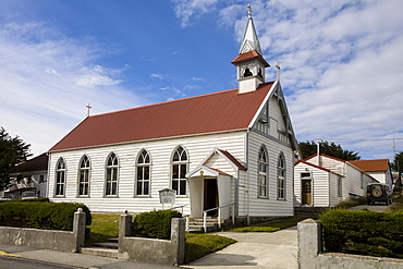 Church in Port Stanley, capital of the Falkland Islands, East Falkland, Malvinas Islands, British Overseas Territory, South America